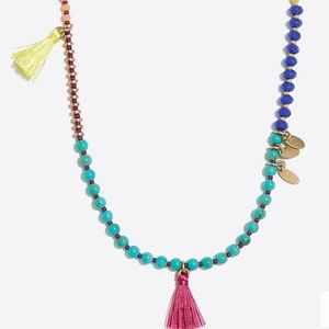 J.Crew Beaded tassel necklace